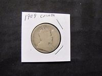 1909 CANADA 50 CENTS SILVER COIN