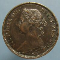 1891 VICTORIA FARTHING   LIGHTLY CIRCULATED WITH BEAUTIFUL BROWN PATINA