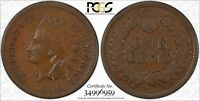 1870 INDIAN HEAD CENT PCGS F 12 PICK AXE VARIETY. FS 303 POPULAR VARIETY