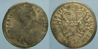 1739 SILVER 3 KREUZER OF CHARLES VI FROM THE HALLE MINT