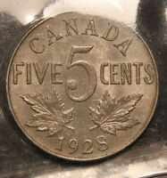 1928 CANADA 5 CENTS NICKEL ICCS MS 63  IN THIS GRADE   WK 228