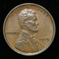 1919 LINCOLN WHEAT CENT PENNY / AU