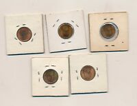 1942 1944 1947 1955D 1955S UNCIRCULATED CENTS 5 DIFFERENT