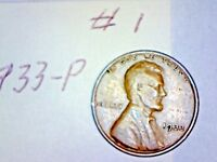 1933-P LINCOLN WHEAT CENT LOT 1