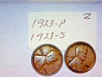 1923-P S LINCOLN WHEAT CENT LOT2