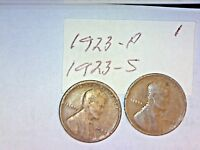 1923-PDS LINCOLN WHEAT CENT LOT 1