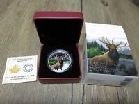 2015 MAJESTIC ELK $20 CANADA .9999 SILVER 1 OZ COLOURED COLORIZED COIN. MINT