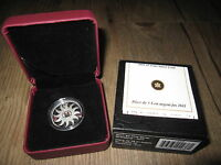 2011 $3 BIRTHSTONE   APRIL DIAMOND GEMSTONE 1/4 OZ SILVER PROOF COIN CANADA OGP