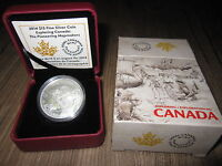 CANADA 2014 $15 EXPLORING CANADA   THE PIONEERING MAPMAKERS SILVER COIN ORIG $54