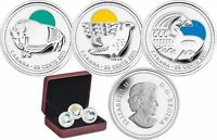 2011 CANADA SILVER 25 CENTS COLORIZED LEGENDARY NATURE CONSERVATION RCM SET
