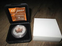 2005 CANADA .9999 SILVER MAPLE LEAF DUTCH TULIP PRIVY MARK MINTAGE 3 500  NO TAX