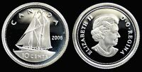CANADA 10 CENT 2006 RCM PROOF SILVER HEAVY CAMEO COLLECTOR COIN