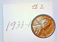 1933-P LINCOLN WHEAT CENT LOT 2