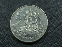 NEW ZEALAND   50 CENTS   1980    $ 2.99 MAXIMUM SHIPPING IN USA