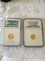 PAIR OF 2008 W US GOLD $5 BUFFALO EARLY RELEASE AND FYOI NGC MS 70 & PF 70