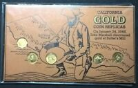 CALIFORNIA GOLD COIN TOKENS   5  TOKENS AND CARD  EDUCATIONAL  NICE