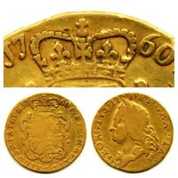 1760 KING GEORGE II 2RD FULL 22CT GOLD GUINEA COIN BRITISH M