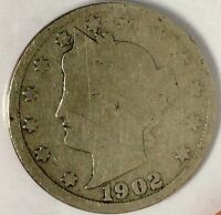 1902-P  5C LIBERTY HEAD NICKEL, 17HW1712