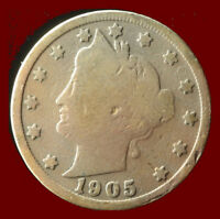 1905-P LIBERTY NICKEL SHIPS FREE. BUY 5 FOR $2 OFF