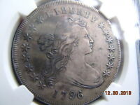 1796 DRAPED BUST DOLLAR NGC EXTRA FINE  DETAILS, TOUGH DATE, LOW MINTAGE