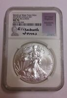 2014 W AMERICAN SILVER EAGLE DOLLAR EARLY RELEASE NGC MS 70 11TH CHIEF ENGRAVER