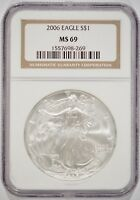 UNITED STATES 2006 AMERICAN SILVER EAGLE $1 NGC MINT STATE 69 1557698-269
