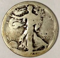1923-S 50C WALKING LIBERTY HALF DOLLAR 18WCT1802 90 SILVER