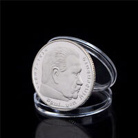 1PCS SILVER PLATED COINS HINDENBURG PRESIDENT COMMEMORATIVE COIN GIFT NJ