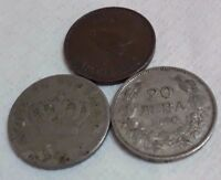 LOT OLD COIN GREECE 1895 20 LEPTA BULGARIA 1940 20 LEVA UK 1946 FARTHING COIN FP