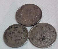 LOT OLD COIN GREECE 1895 20 LEPTA BULGARIA 1925 1 LEV 1940 20 LEVA OLD COINS FP