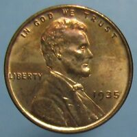 1935 LINCOLN CENT   CLOSE TO FULL RED AND GEM BU