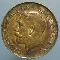 RICHLY TONED CHOICE UNCIRCULATED 1919 GEORGE V SHILLING