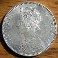 BU 1891 VICTORIA RUPEE FROM THE BOMBAY MINT
