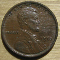 HIGH GRADE 1918 LINCOLN CENT   MAJOR LAMINATION ISSUES ON BOTH SIDES
