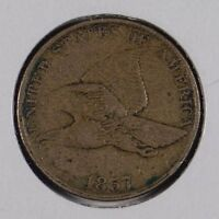 1857 1C FLYING EAGLE CENT FINE CONDITION 165596