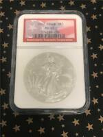 2002 NGC MINT STATE 69 AMERICAN SILVER EAGLE