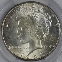 1926 S PEACE DOLLAR PCGS MINT STATE 63