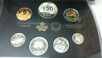 2017 CANADA SILVER ALL COIN PROOF SET 150TH ANNIVERSARY OUR HOME AND NATIVE LAND