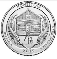 UNITED STATES QUARTER 2015 HOMESTEAD NEBRASKA AMERICA THE BEAUTIFUL