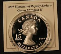 2009 CANADA $15 SILVER ELIZABETH II VIGNETTES OF ROYALTY ULTRA HIGH RELIEF COIN