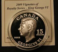 2009 CANADA $15 SILVER 'GEORGE V'   VIGNETTES OF ROYALTY ULTRA HIGH RELIEF COIN