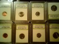 MIX US COIN SLABBED LOT BU COINS