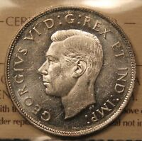 1944 CANADA SILVER 50 CENTS. ICCS MS 62 HEAVY CAMEO. FAR 4. NICE PIECE. BV $175