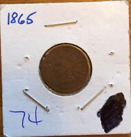 1865 INDIAN HEAD PENNY 17-200