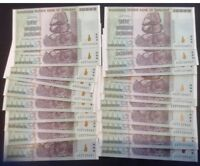 20X50 TRILLION DOLLAR ZIMBABWE NOTES UNC SUPERB CONDITION NEVER HANDLED