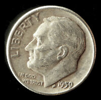 1959 D ROOSEVELT 90  SILVER DIME SHIPS FREE. BUY 5 FOR $2 OFF