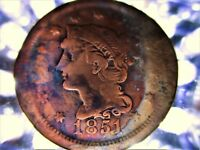 U.S. LARGE PENNY CENT BRAIDED HAIR 1851