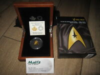 2016 STAR TREK DELTA SHAPED GOLD PROOF COIN $200 16.20 GRAMS PURE MINT SOLD OUT
