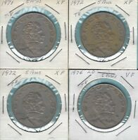1971//76  MEXICO AGUSTIN D ITURBIDE 5P COPPERNICKEL  33MM KM472 CV$    MM474
