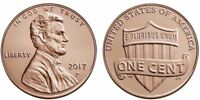 ONE CENT 2017 P LINCOLN SHIELD PENNY  UNCIRCULATED FROM BANK SEALED ROLL
